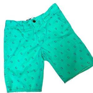 UO Hawkings McGill French bulldog green shorts